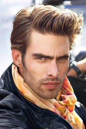 помпадур на средние волосы без чёлки для мужчин