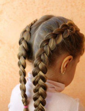 две косички на длинные волосы для девочек