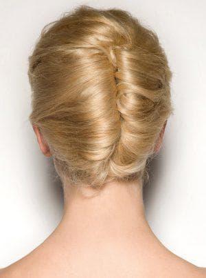 причёска двойная ракушка
