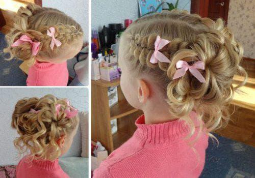 ажурная коса на длинные волосы для девочек