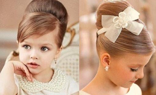 причёска объёмная шишка для ребёнка