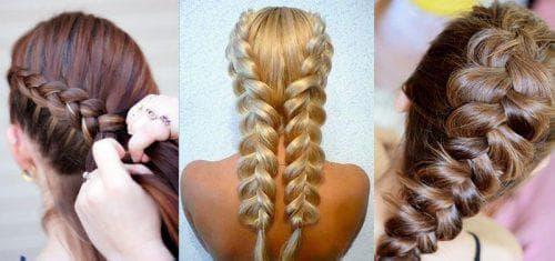 французская коса наоборот на длинные волосы