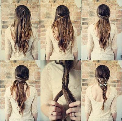 романтичная коса в школу