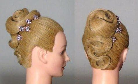 ракушка на длинные волосы для девочек