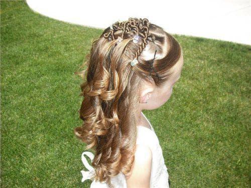 укладка принцесса на длинные волосы для девочек