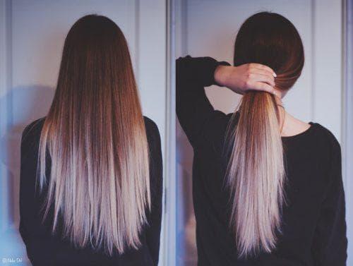 красивое омбре длинных волос