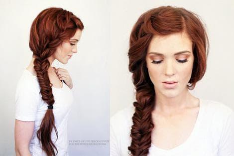 квадратная коса на длинные волосы