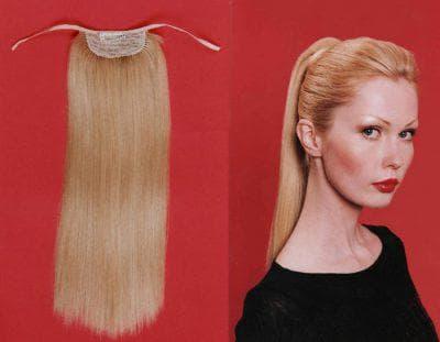 шиньон с накладными волосами