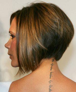 укороченный боб на густые прямые волосы