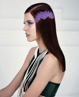 красивое пиксельное окрашивание длинных волос