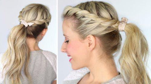жгут с резинками на средние волосы