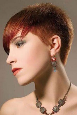 ультрокороткая причёска на короткие волосы