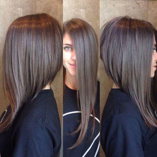 стрижка на средние волосы на вытянутое лицо