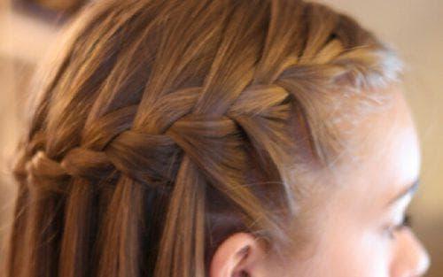 полуколосок на длинные волосы для девочек