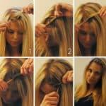 прическа на длинные волосы с помощью бублика