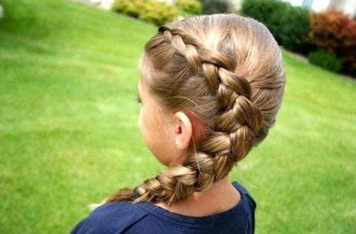 детская прическа дракончик на длинные волосы