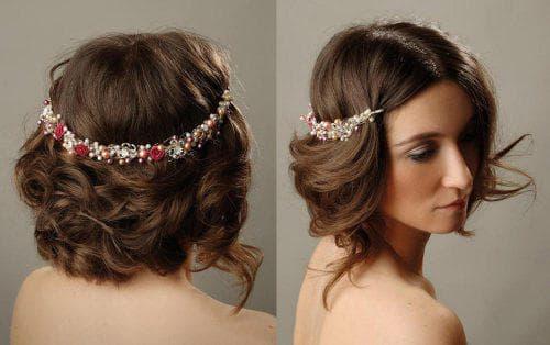 причёска в греческом стиле на свадьбу на короткие волосы