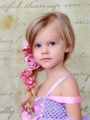 образ принцессы на длинные волосы для девочек
