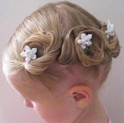 хвост с воланами на длинные волосы для девочек