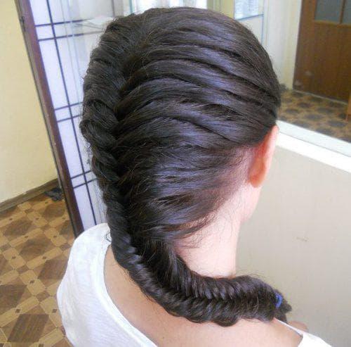 детская прическа рыбий хвост на длинные волосы