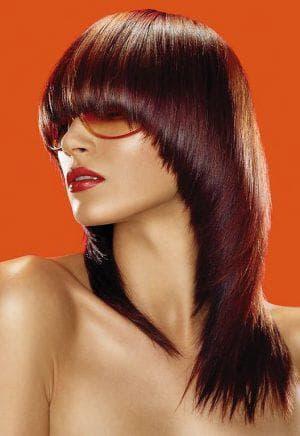 стрижка сессон на длинные волосы