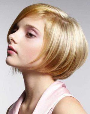 стрижка для коротких редких волос без чёлки