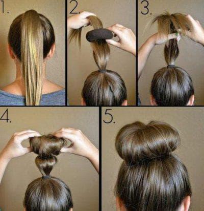 как красиво заколоть волосы бабетта средней длины