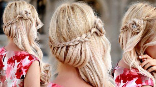 праздничные причёски накладными волосами