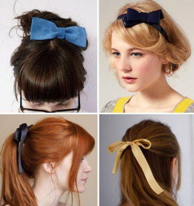 укладка с лентами на длинные волосы для подростков