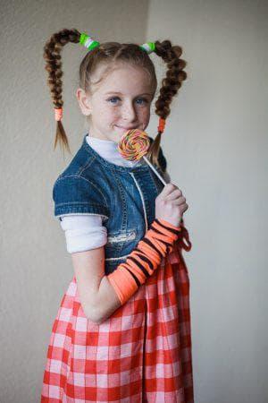 хвостик «Пеппи» с резинками для девочек