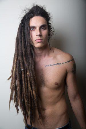 мужские объемные дредлоки на длинные волосы