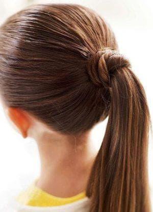 детская прическа хвостик на длинные волосы