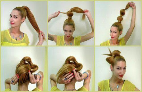 причёска бантик с резинками для взрослых