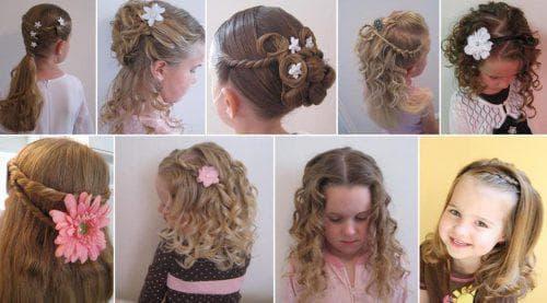 детская праздничная прическа на длинные волосы