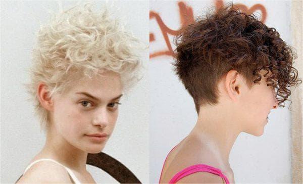 короткий гарсон на кудрявые волосы