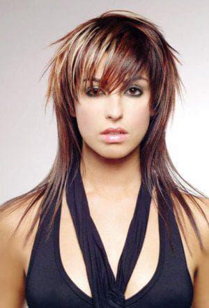 стрижка гаврош на средние волосы