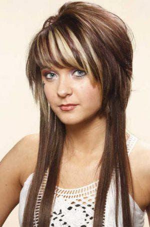 стрижка гаврош на длинные волосы