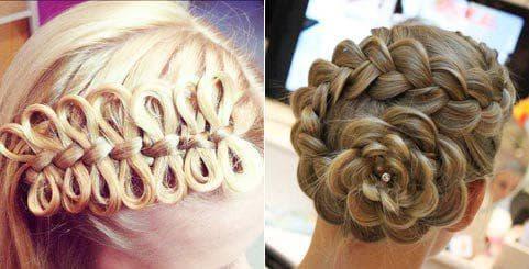 детская причёска с плетением на длинные волосы