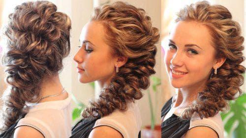 элегантная прически с резинками на длинные волосы