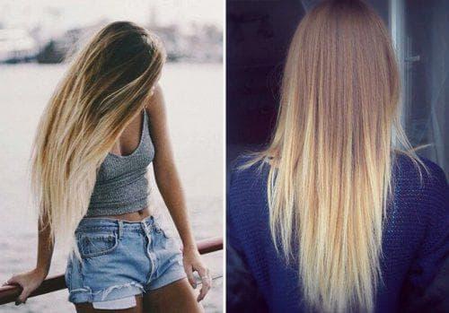 как выровнять цвет волос, корни светлые