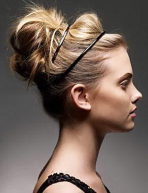 Как сделать шишечку на голове из волос