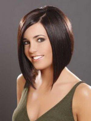 стрижка удлинённое каре на средние волосы