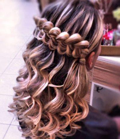 плетение водопад на длинные волосы для детей