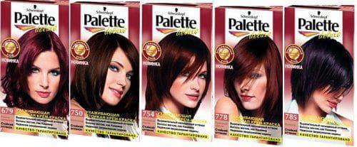 краска для волос палет Делюкс