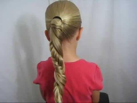 причёска спираль для девочки