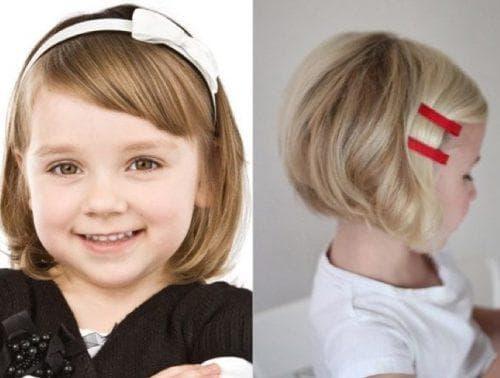 причёска на короткие волосы для девочки
