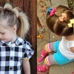 простые детские прически на длинные волосы