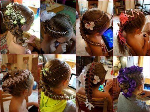 косы на выпускной в детский сад