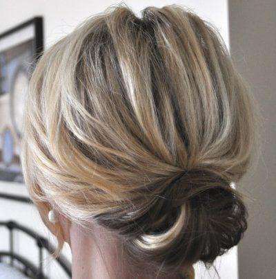 красивые пучки из волос на короткие волосы