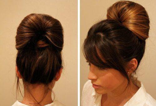 красивые пучки из волос на длинные волосы второй вариант